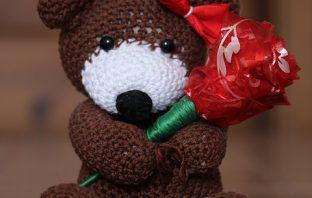Háčkovaný medvídek – návod