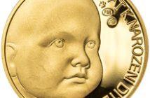 Dukát k narození dítěte - Miminko v peřince