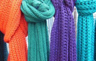 Háčkovaný šátek - návod